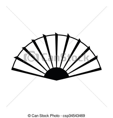 450x470 Fan Clipart Drawing