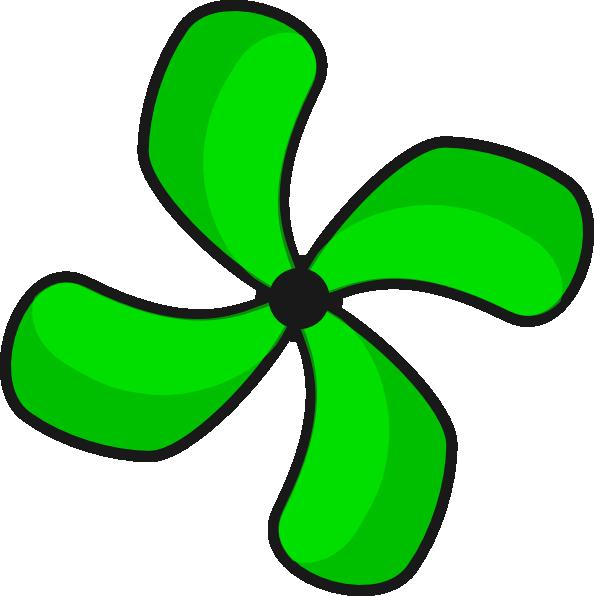 594x596 Green Fan 2 Clip Art