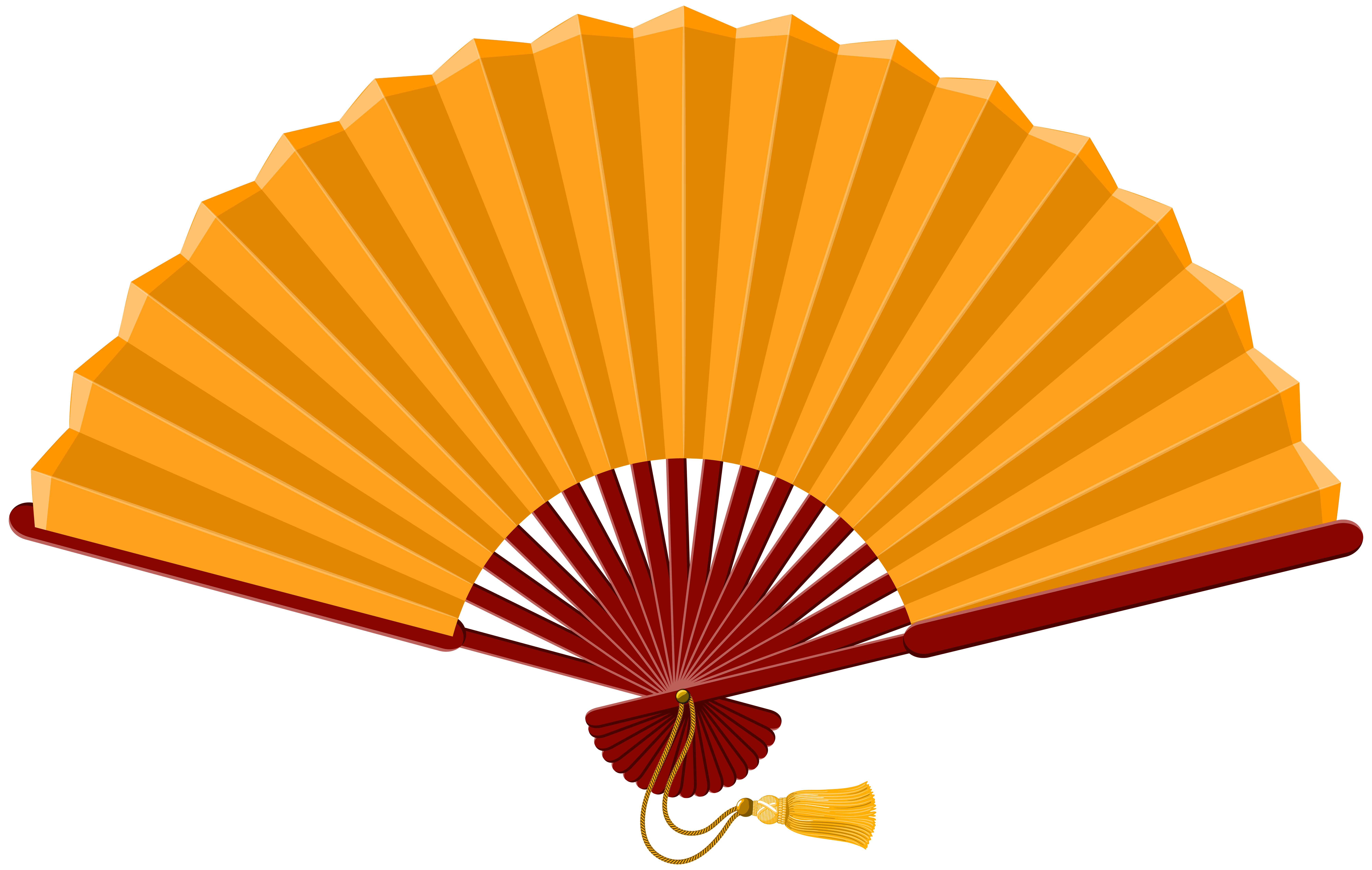 8000x5072 Red Chinese Hand Fan Free Clip Art
