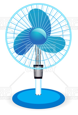 272x400 Table Fan Royalty Free Vector Clip Art Image