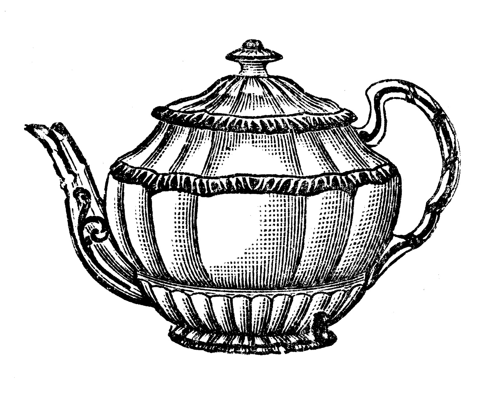 1600x1326 Teapot Clip Art Outline Free Clipart Images 5