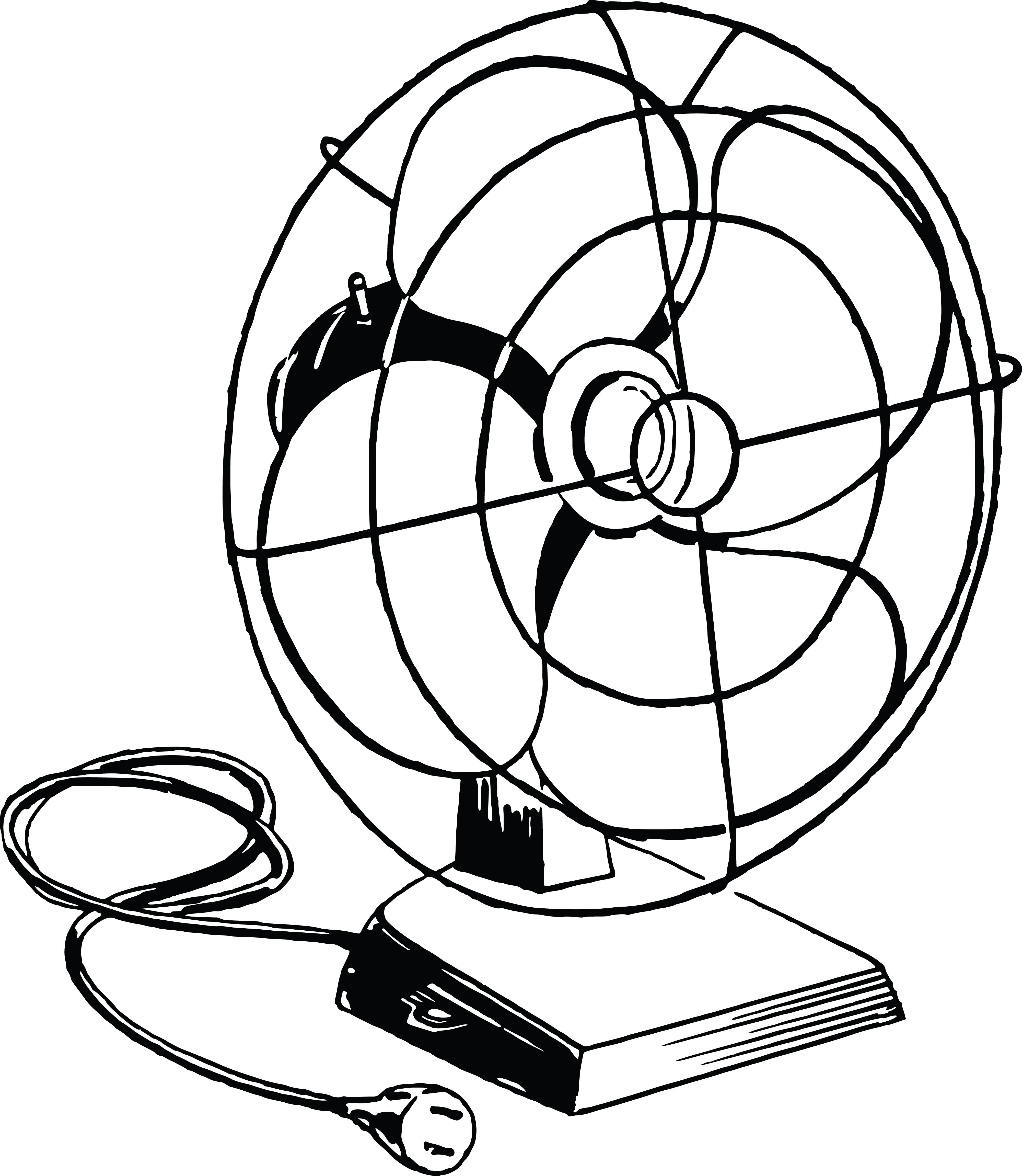 4000x4601 Clipart Of A Desk Fan