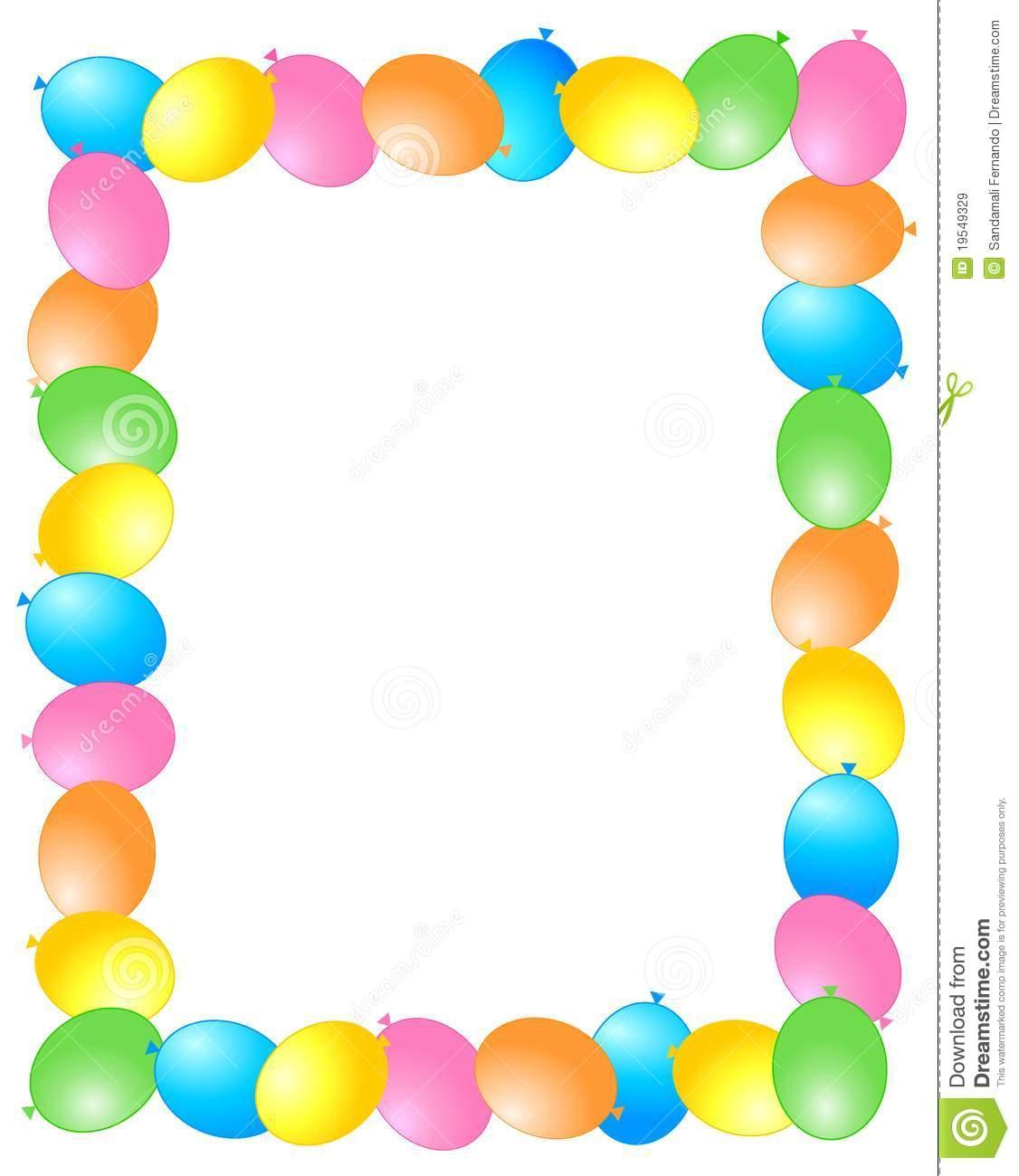 1126x1300 Balloon Border Clipart