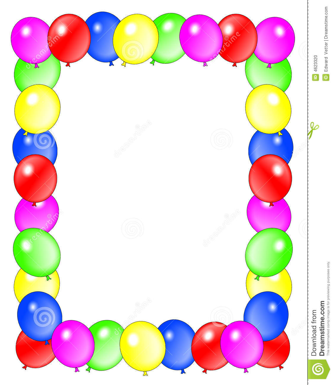 1130x1300 Balloon Borders Clipart