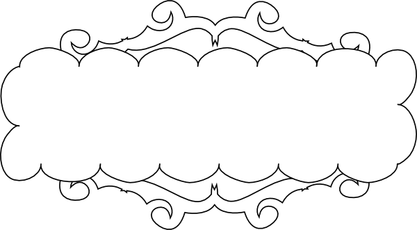 600x331 Outlined Fancy Banner Clip Art