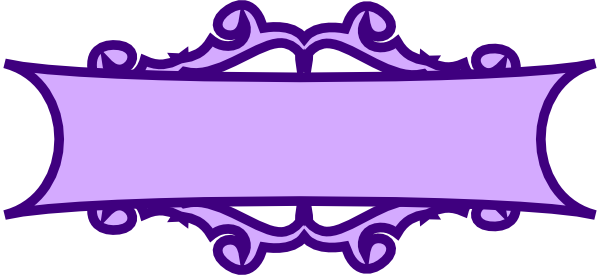 600x275 Purple Banner Scroll Clip Art