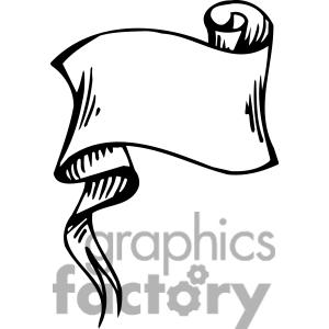 300x300 Scroll Banner Clipart