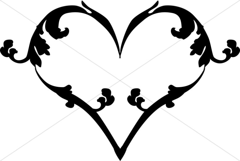 776x523 Heart With Curly Qs Christian Heart Clipart