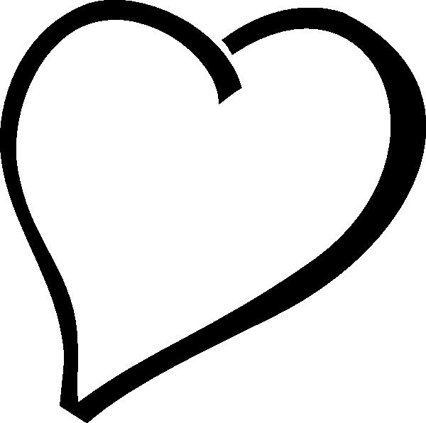 600x596 Single Black Heart Clip Art