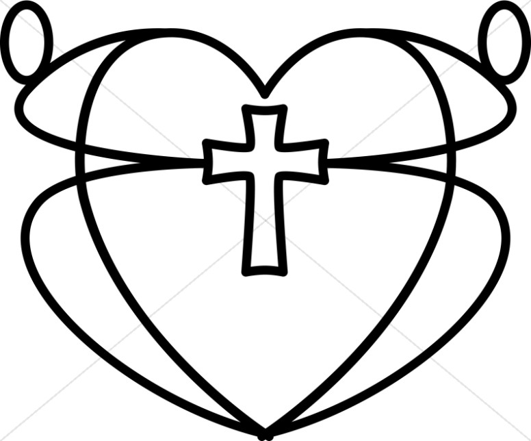 776x644 Black And White Graphic Heart Christian Heart Clipart