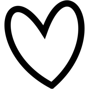 300x300 Black Heart Heart Black And White Heart Clipart Clip Art