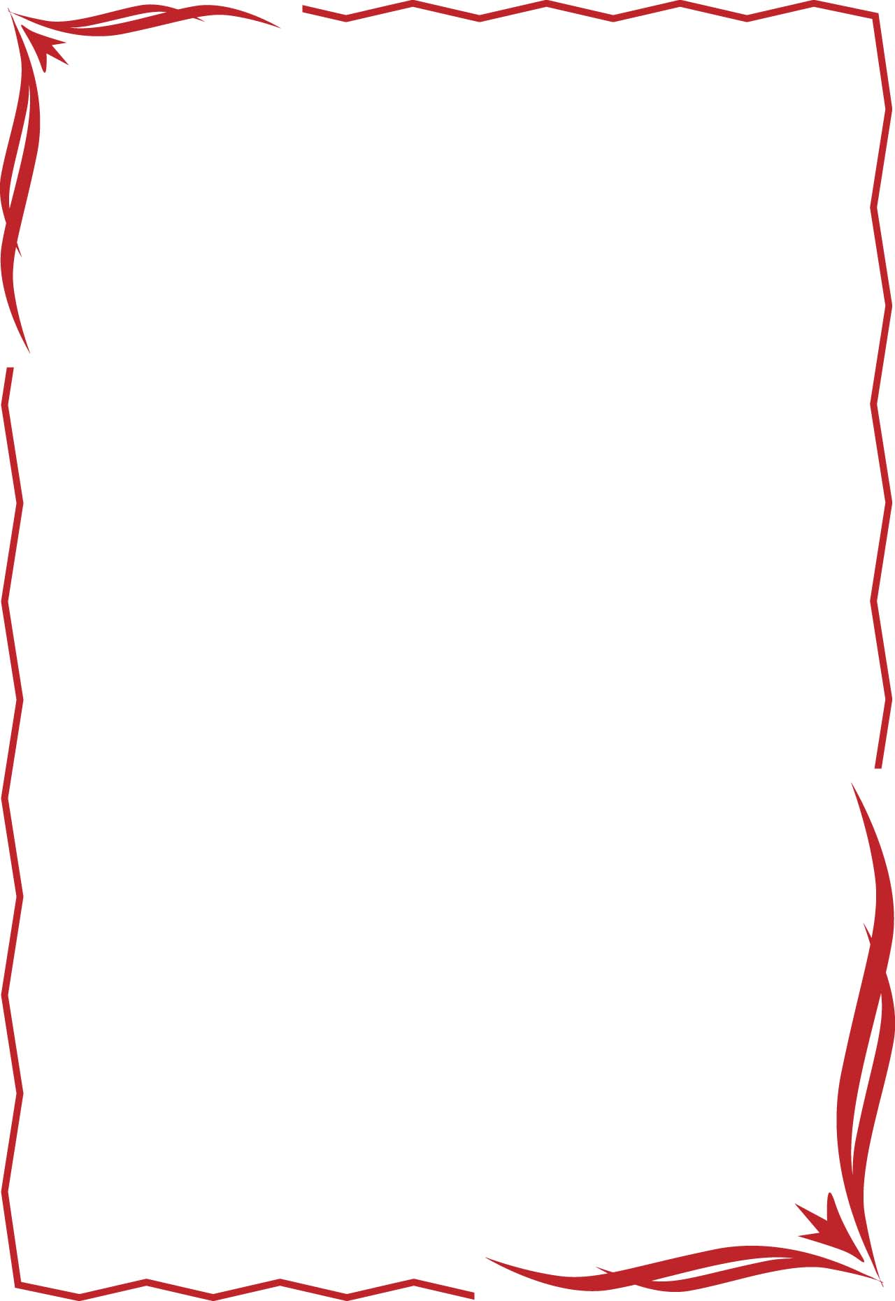 1280x1861 Red Border Clipart