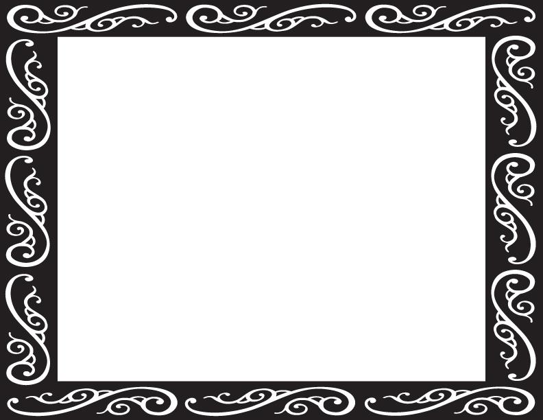 792x612 Fancy Border Frame Clipart