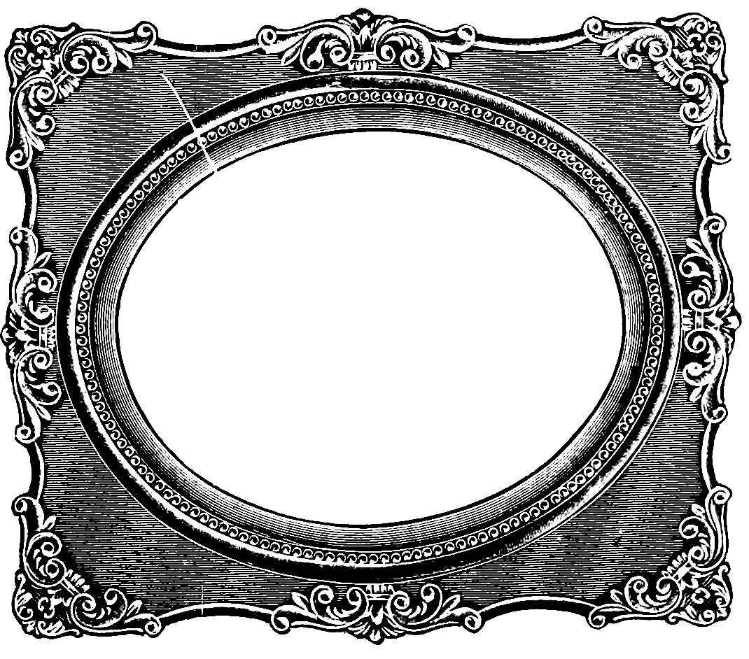 1070x942 Vintage Rectangle Border Clipart