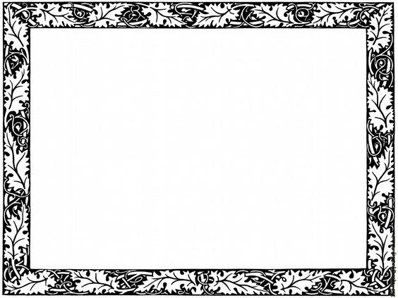 564x423 Black Border Clipart