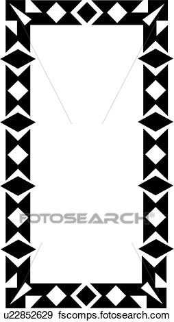 254x470 Clip Art Of , Blank, Border, Fancy, Frame, Geometric, Rectangle