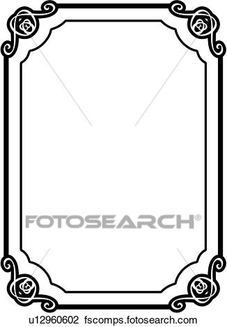 326x470 Clipart Of , Asian, Blank, Border, Fancy, Frame, Rectangle, Sign