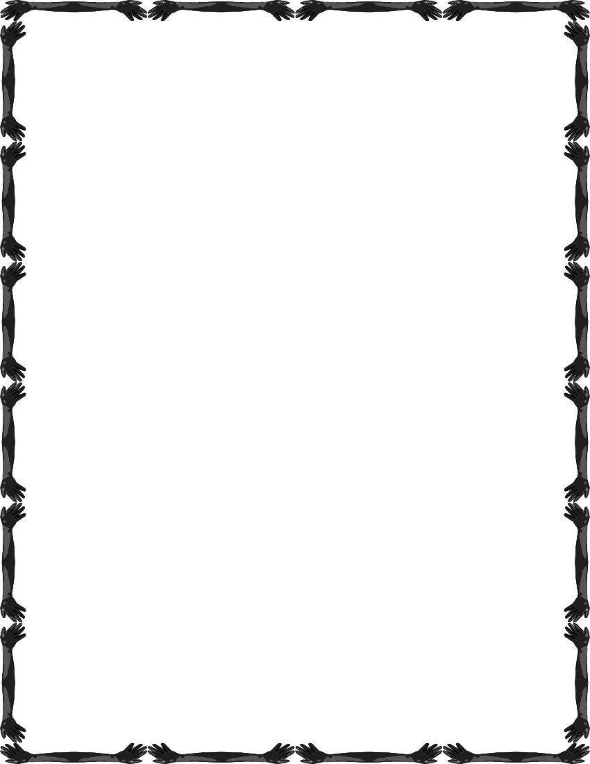850x1100 Simple Black And White Frame Clipart