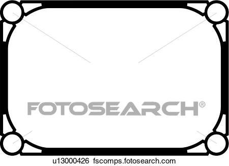 450x327 Clip Art Of , Blank, Border, Fancy, Frame, Rectangle, Sign, Panel