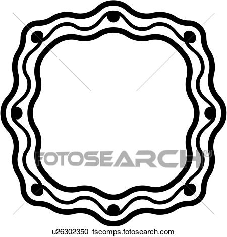 450x470 Clipart Of , Blank, Border, Circle, Fancy, Frame, Panel, Shapes
