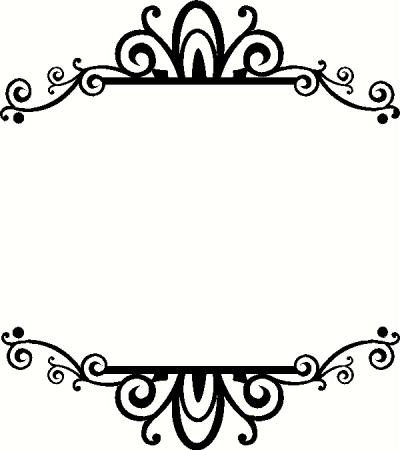 400x450 Grand Fancy Border Clip Art Borders For Word Documents Seivo