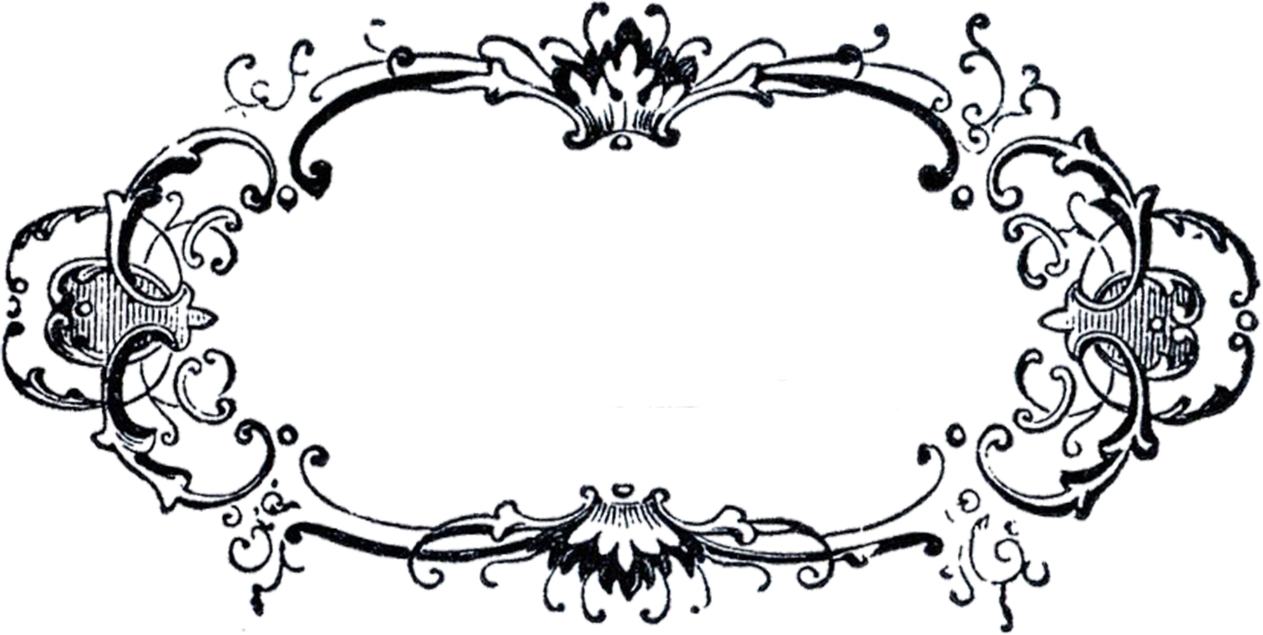 1800x905 Fancy Frame Clipart