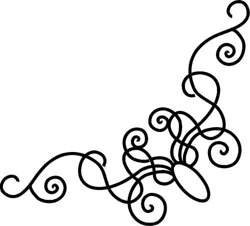 500x452 Fancy Corner Designs Clip Art Clipart Image
