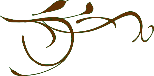 600x295 Brown Branch Fancy Clip Art