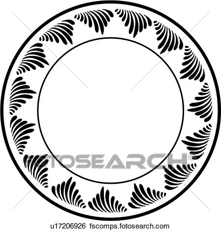 449x470 Clip Art Of , Blank, Border, Circle, Contemporary, Fancy, Frame