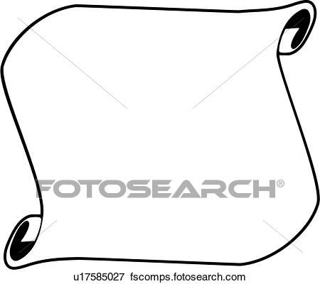 450x400 Clip Art Of , Fancy, Frame, Scroll, U17585027