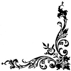 Fancy Corner Clipart