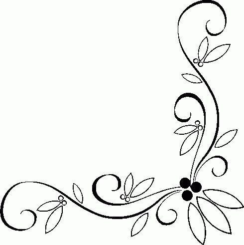 490x491 Corner Scroll Clip Art