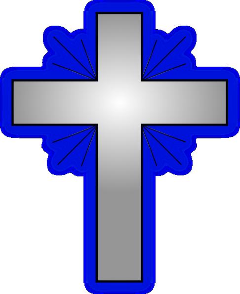 486x595 Fancy Blue Cross Clipart