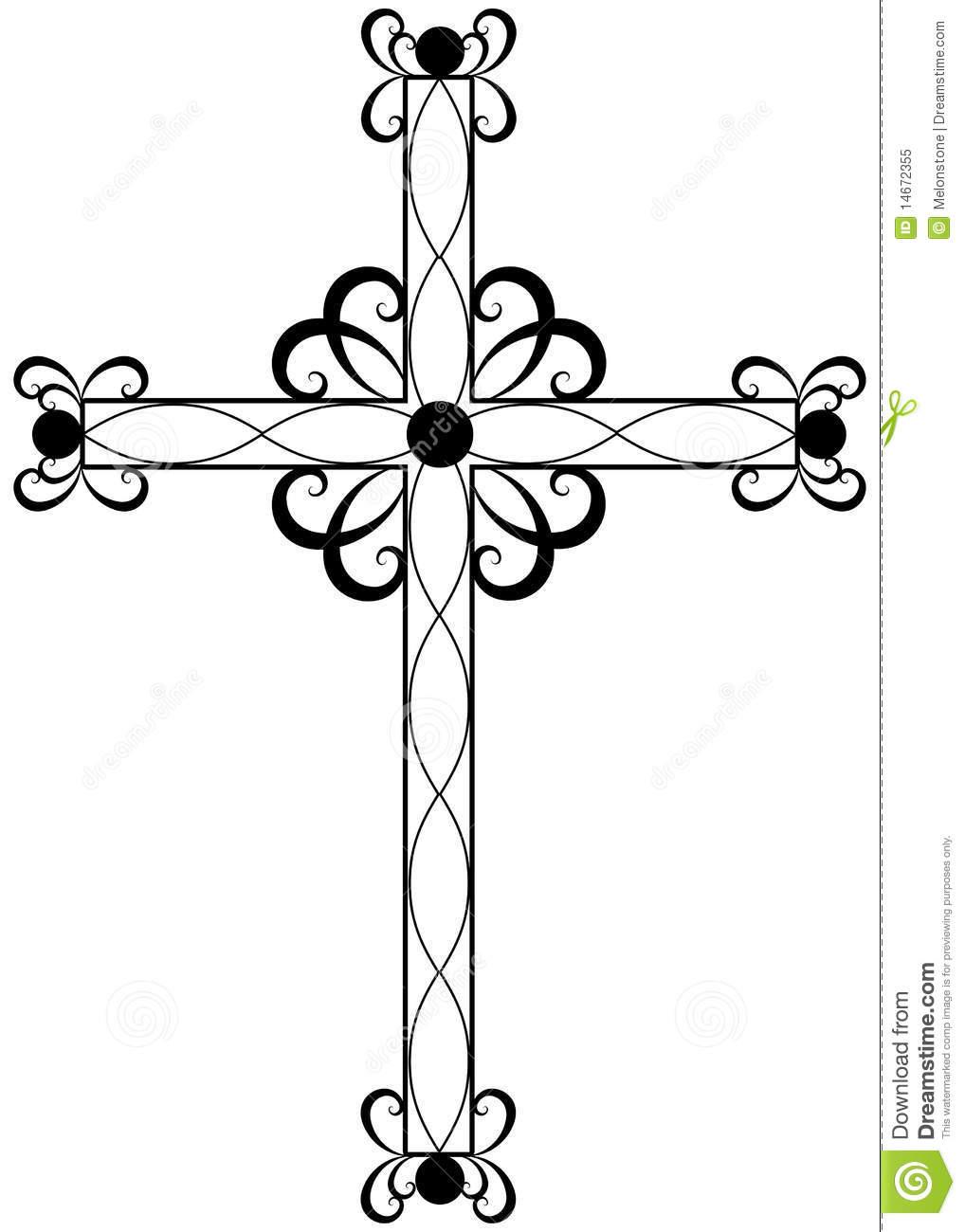 1018x1300 Fancy Cross Clipart