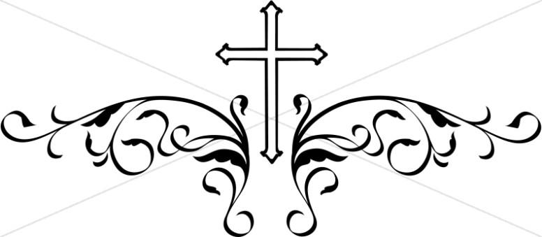 776x339 Simple Black Cross Clip Art