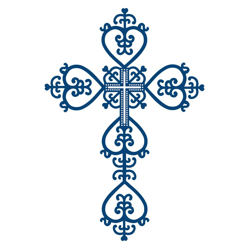 1000x1000 Blue Baptism Cross Clipart