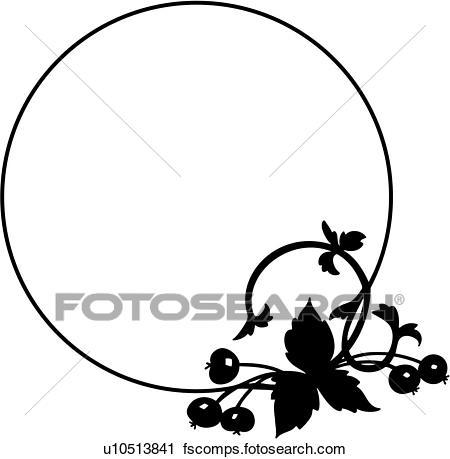 450x459 Clipart Of , Border, Circle, Fancy, Food, Frame, Fruit, Harvest