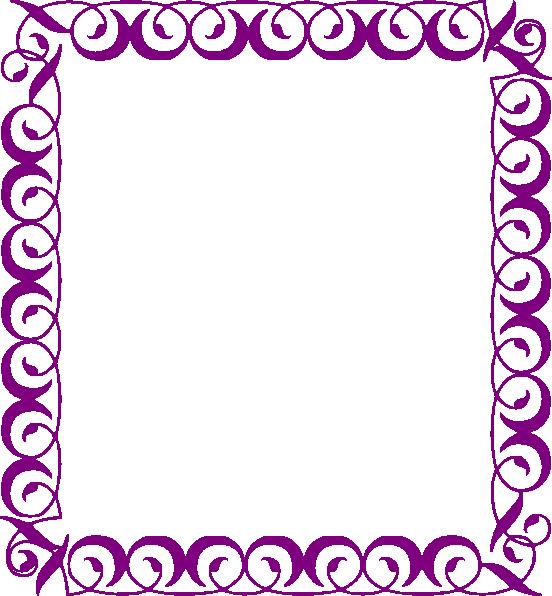 552x596 Fancy Border Clip Art