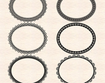 340x270 Fancy Frames Clip Art Round Frames Round Scallop Frame Oval