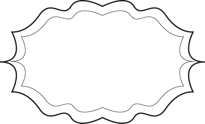 696x421 Black Fancy Frame Clipart
