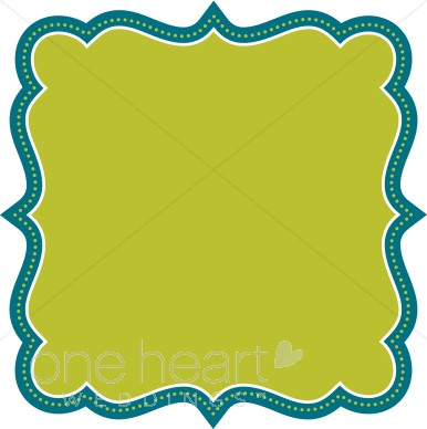 386x388 Teal Clipart Fancy