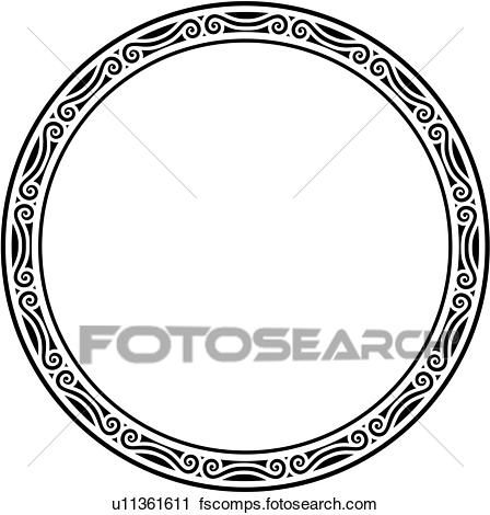 448x470 Clipart Of , Blank, Border, Circle, Fancy, Frame, Round, Sign