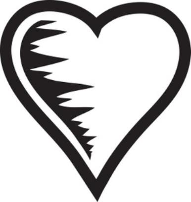 386x408 Double Heart Clipart