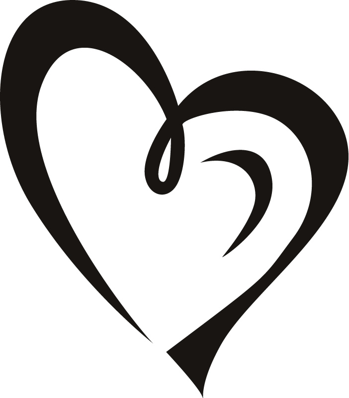 702x800 Heart Outline Heart Clipart Fancy Outline