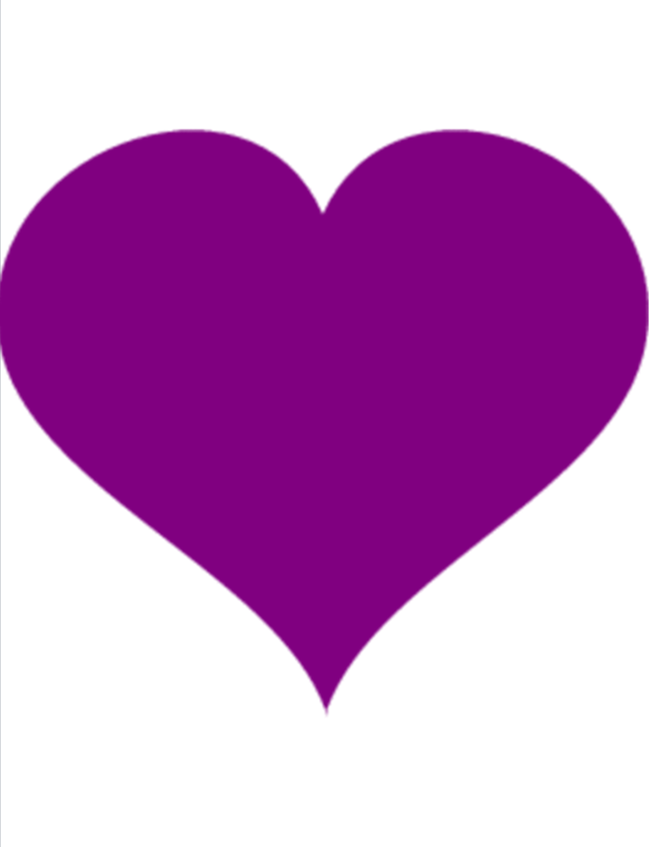 1275x1650 Purple Heart Clipart