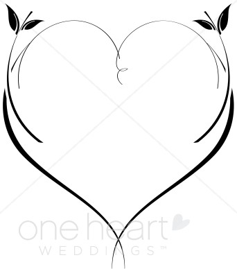 342x388 Fancy Heart Clipart