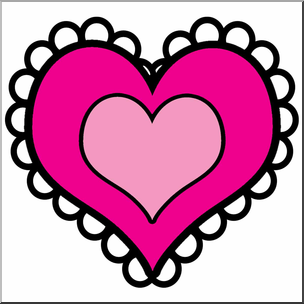 304x304 Clip Art Fancy Heart Color I Abcteach
