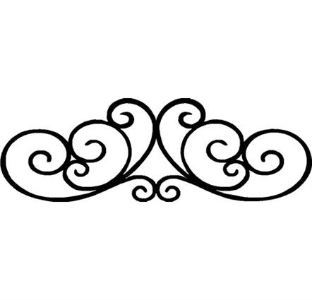 442x425 Decorative Scroll Clipart