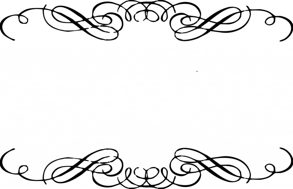 1024x662 Decorative Line Borders Clip Art