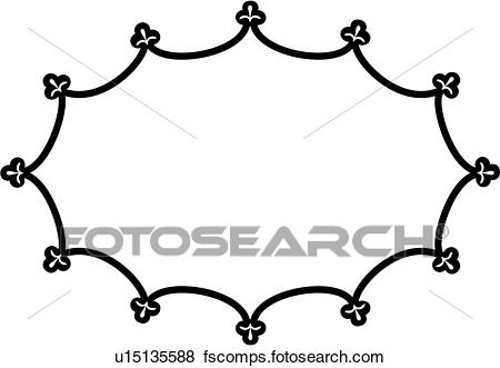 450x331 Clip Art Of , Blank, Border, Fancy, Frame, Oval, Sign, U15135588
